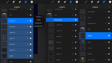 create a folder with layers