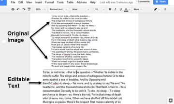 jpg image after OCR process in Google Drive