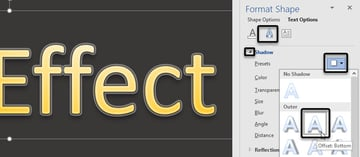 Word Text Effects -- Shadow