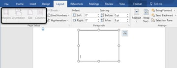 Layout options are unavailable in Word