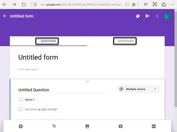 Blank Google Docs Form with two tabs