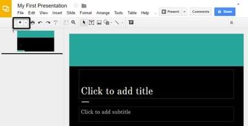 Press to add a new slide