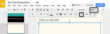 Create a bulleted list by clicking More Bulleted List