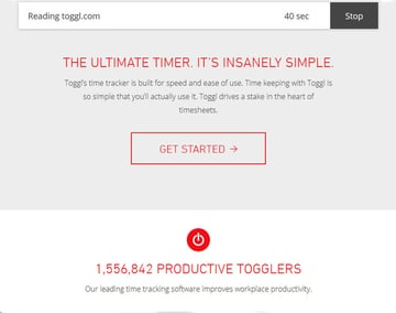 Toggl Business Time Management Productivity App