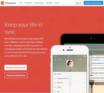 Wunderlist Business Productivity Task App Manager