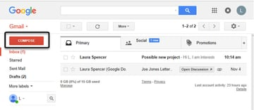 how to send gmail Compose Button