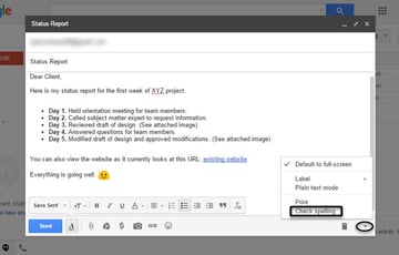 Check spelling option in Gmail
