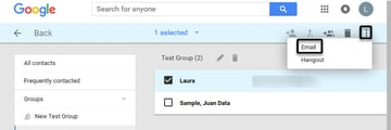 Group email from contacts group
