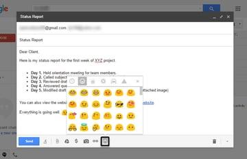 Gmail emojis