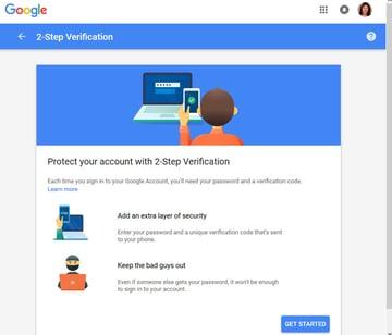 Gmails 2-Step Verification feature
