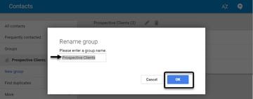 Google Contacts Group Feature