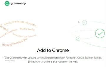 Grammarly Chrome Gmail add-on
