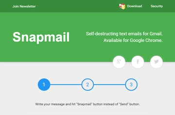 SnapMail encryption Gmail add-on