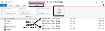 Extract all option in File Explorer