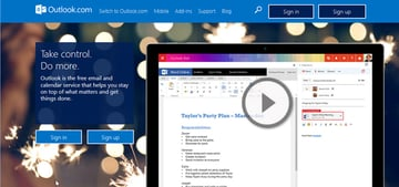 Outlookcom email service