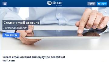 Create a free Mailcom email account