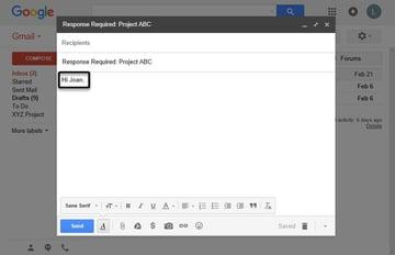 Email reminder salutation