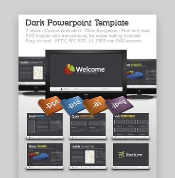 Dark - Plantilla PowerPoint
