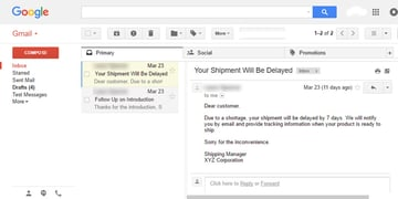 Gmail Preview Pane Vertical Split message