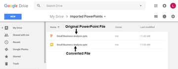 Google Slides Power Point -- Two Files