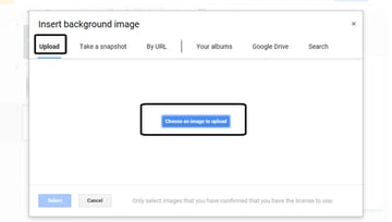 Insert Background Image in Google Slides