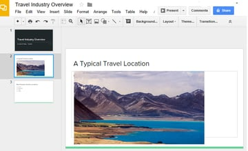 Selected Slide to work with in Google Slides