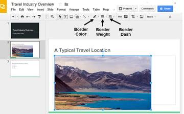 Google Drive Slides Border Tools