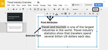 Google Slides Font Attributes