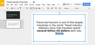Highlighted Google Slide Text