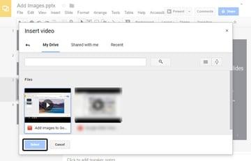 Insert a Video in Google Drive