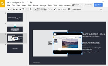 Google Slide with Video