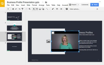 Google Slide with YouTube Video