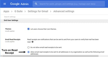 GSuite Gmail Advanced Settings