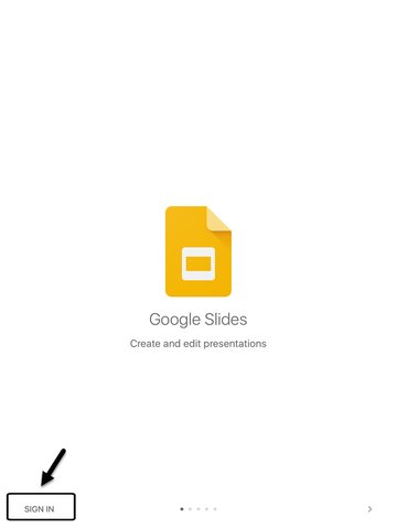 Opening Google Slides on an iOS Device