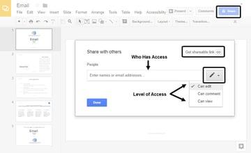 Google Slides Sharing