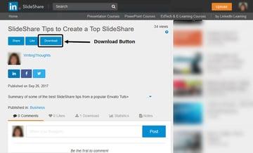 SlideShare Download Button