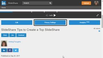 SlideShare Privacy Settings