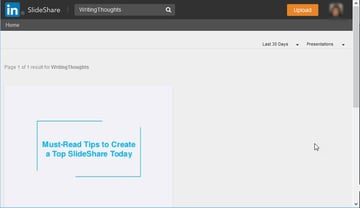 SlideShare Search Results