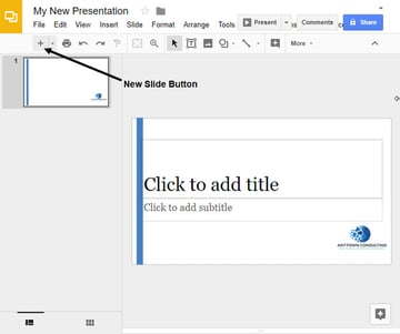 Google Slides Template with One Slide