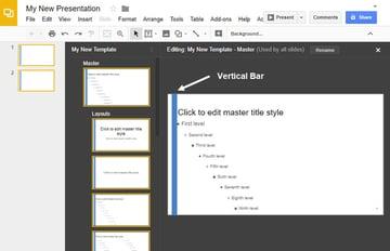 Changing the Google Slides Master Slide