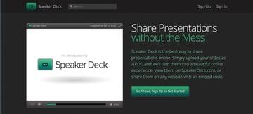 Speaker Deck online presentation software tool