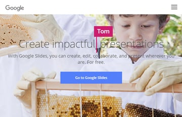 Google Slides online presentation software