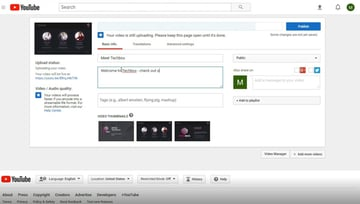 Drop the file into YouTube