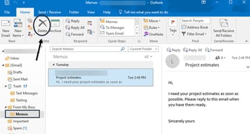 You can delete a folder from Outlook