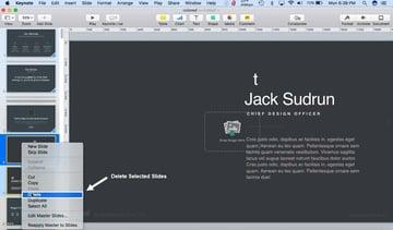 How to Delete Slides On Keynote