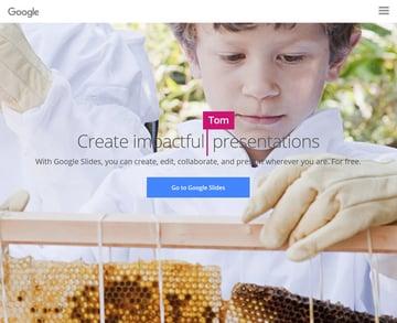 Google Slides slideshow software for Mac