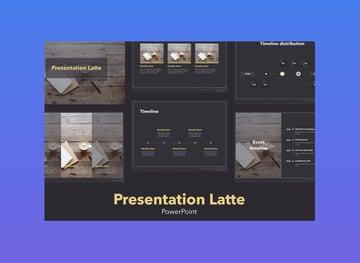 Latte Cool Microsoft PowerPoint Template