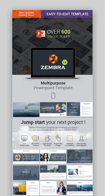 Zembra -- Cool Multipurpose PowerPoint Template
