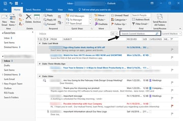Outlook Search tool