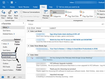 Where missing emails often are